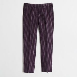 J.Crew Factory Black  & Pink Jacquard Pants